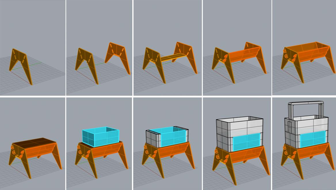 POC#1 - 3D modelling process using Rhino software